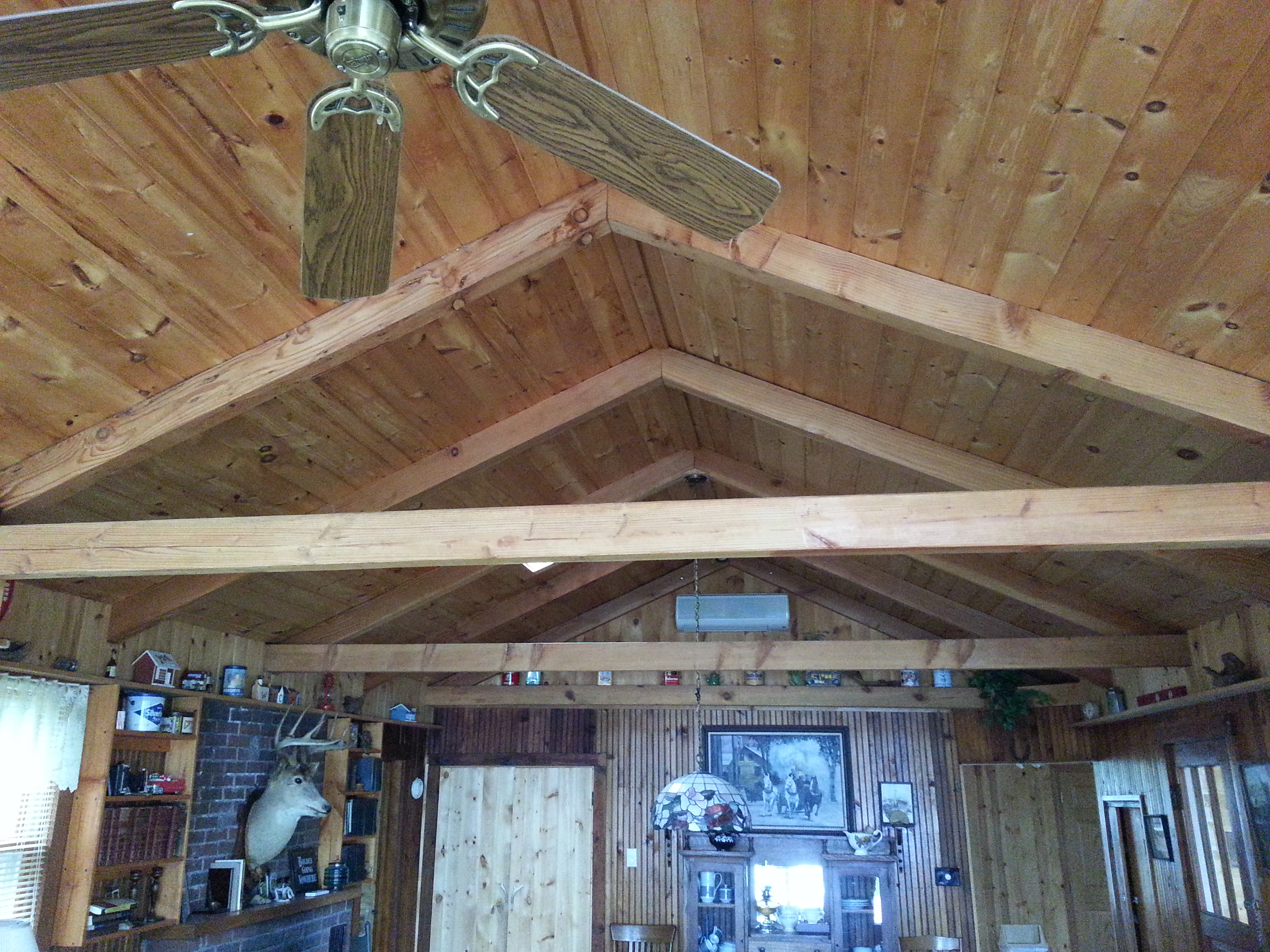 Vaulted ceiling in Cabin #1