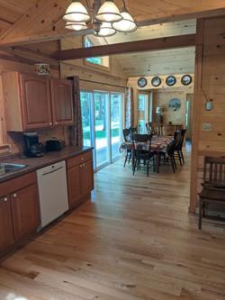 Kitchen from Sunset Room door