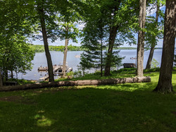 Lake and dock from Oak Cabin