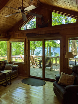 View out windows of family room