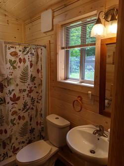 S wall of north bathroom