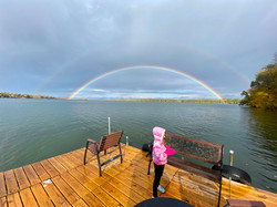 Double rainbow from our dock