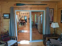 Sunset room sliding door to kitchen