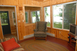Pine cabin living room NW