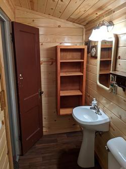 N end of bathroom