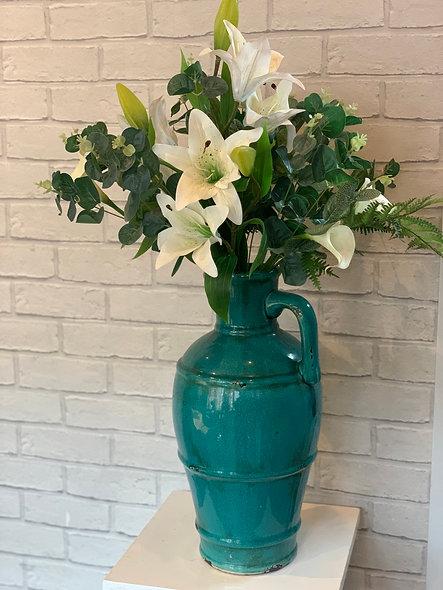 Artificial Lily Vase