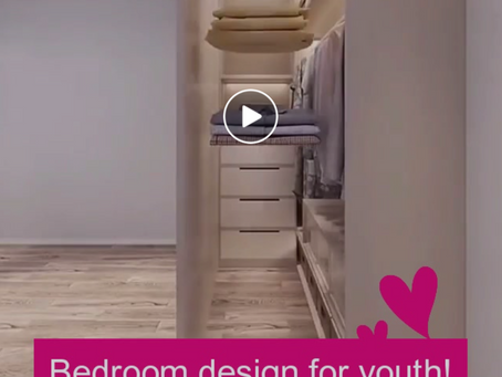 A beautiful and simple bedroom Inspiration for youth!💙