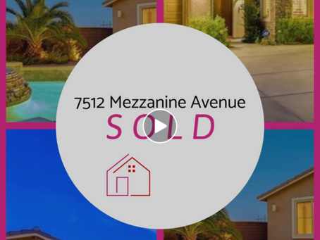 7512 Mezzanine View Avenue is Sold!