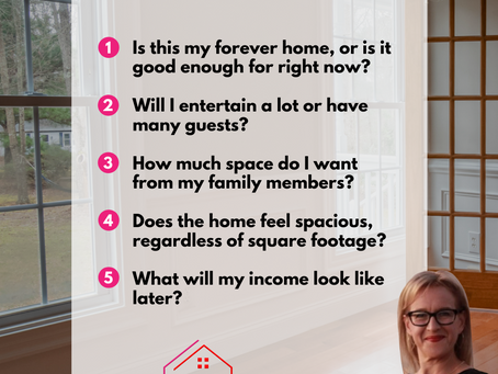 What you should ask yourself to figure out how big a home you need.