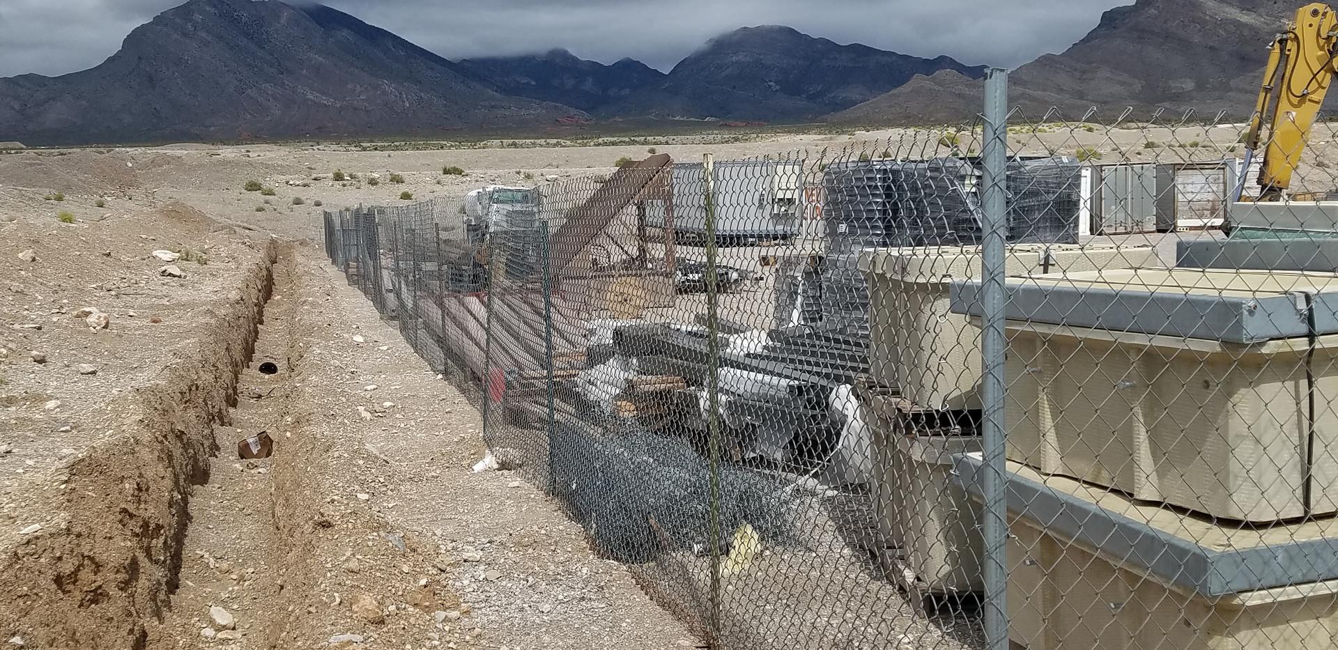 Fence line The Tiberti Fence Company - Las Vegas, Nevada