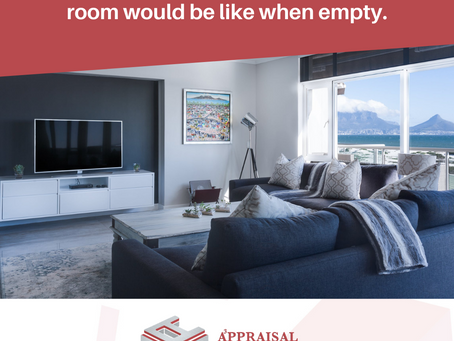 Our Appraisers are trained to focus on the overall size of each room.