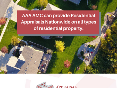 Residential appraisals nationwide.