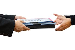 Handing File Folder ,teamwork concept.jp