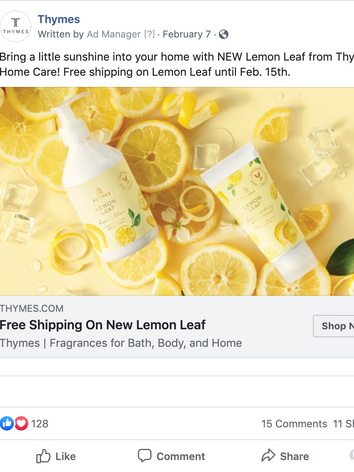 Thymes Facebook