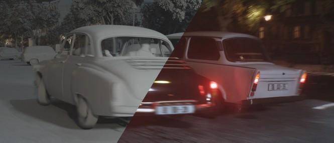 Wartburg & Trabant car chase 1963