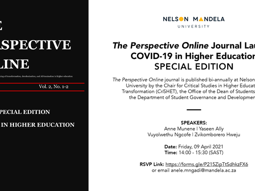 JOURNAL LAUNCH: The Perspective Online - C19 in Higher Education