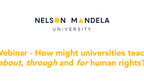 NEWS: Webinar - How might universities teach about, through and for human rights?