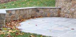 Patio with Stone Veneer Wall
