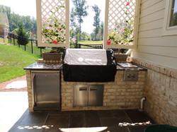 Brick Enclosed outdoor grill