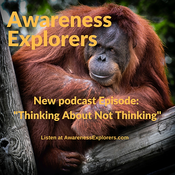 Awareness Explorers podcast Episode 3: Thinking About Not Thinking