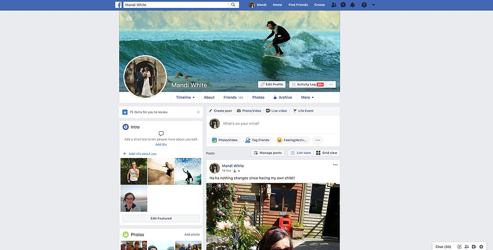Facebooks old version on desktop