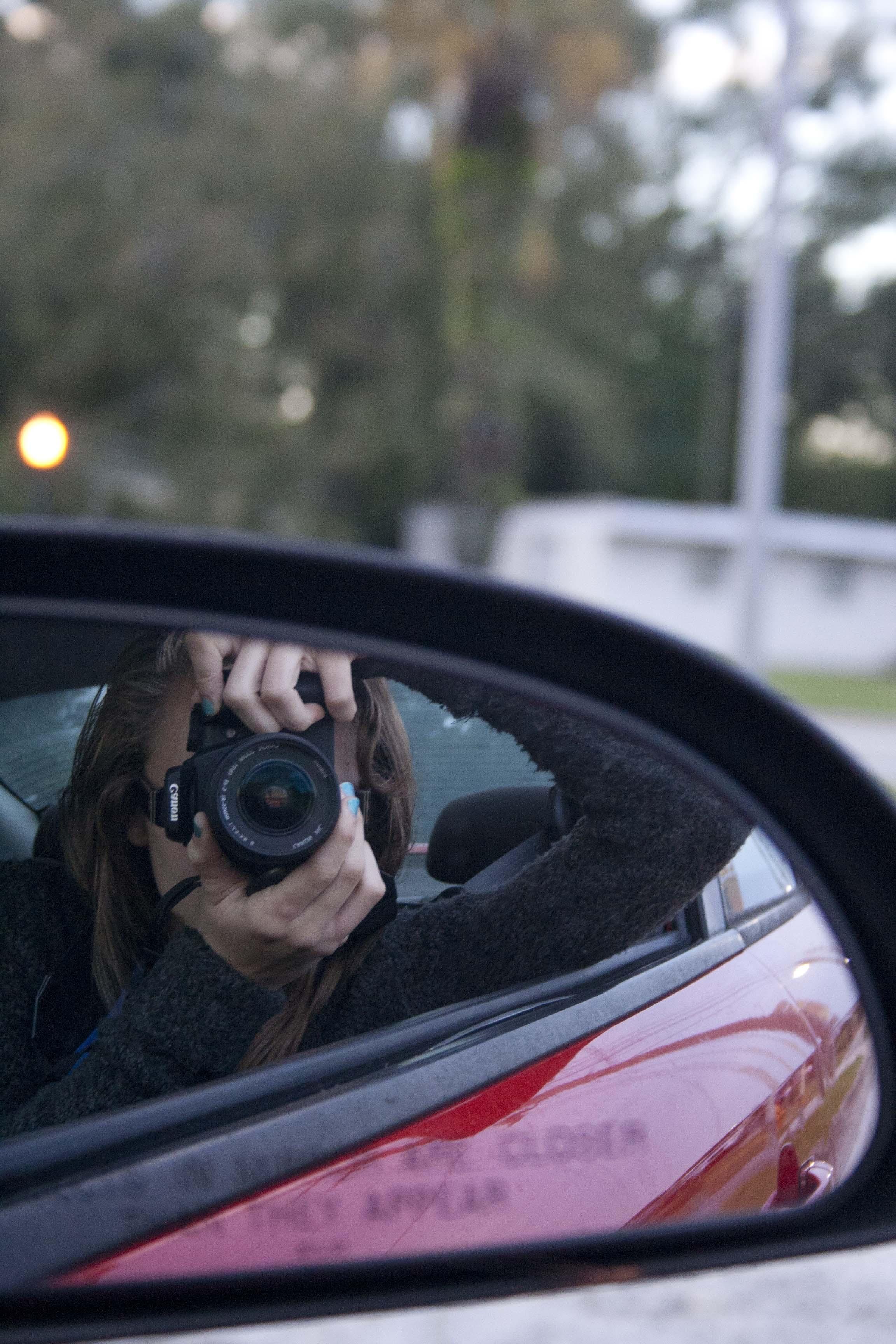 Car mirror photo | Kelly Lamano | Owner and Orlando Photographer | Sunshine Photography
