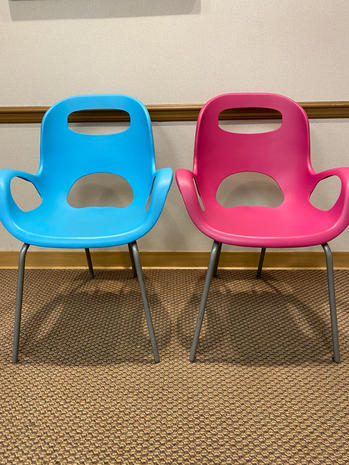 Stackable IKEA chairs $10 ea/$60 for 8