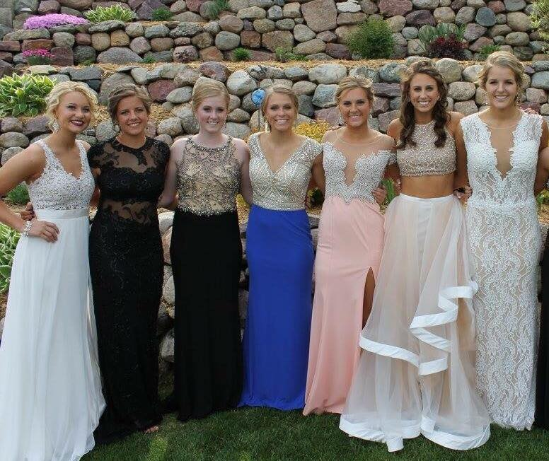 Prom Girls, Different Shades of Tan!