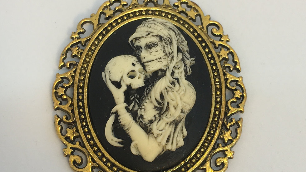 Day of the Dead Cameo (gold setting)