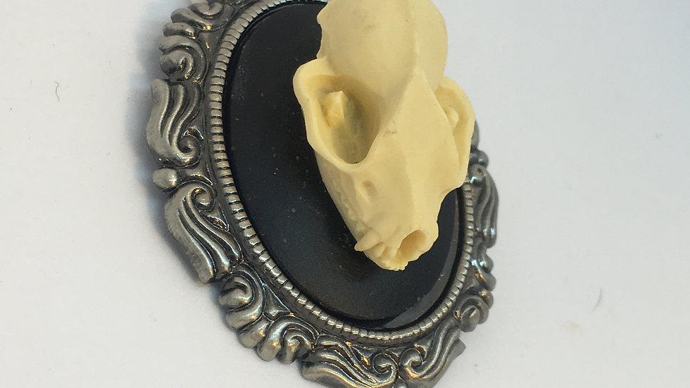 Bat Skull Cameo (silver setting