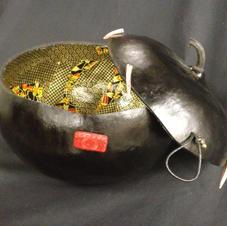 Washi Paper Lidded Gourd