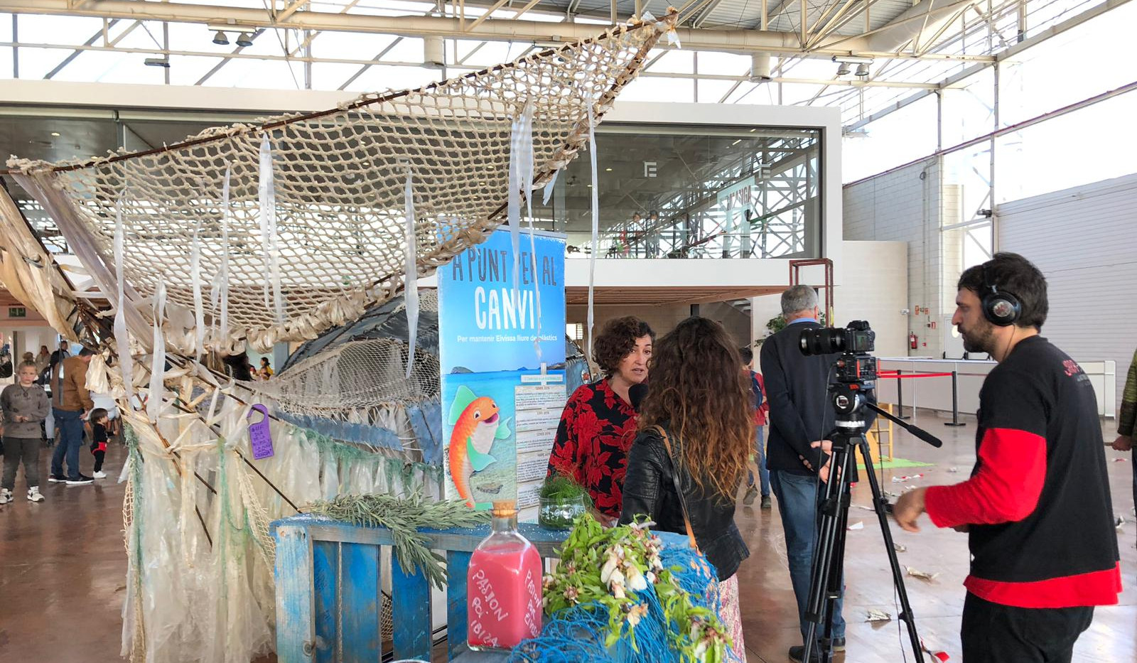 People from Ibiza Stop Plastic. Video Making
