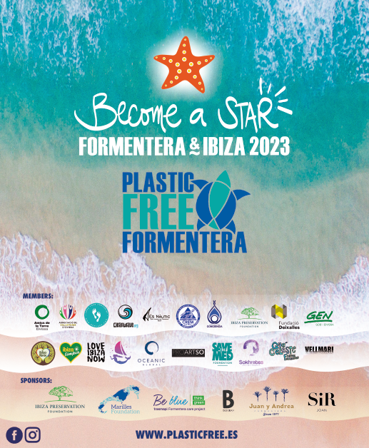 CLIENT: Plastic Free ibiza & Formentera​  'BECOME A STAR'  2019 Ibiza, Spain  Enviroinmental Awareness Campaign  We translated the Plastic Free Certification for companies in Ibiza and Formentera, into an integrated concept and visual graphics. These graphics where employed for: events, decorations, leaflets, social and web pages and drove many positive results, grabbing the attention of the media and companies, who felt inspired to join the change.   IBILANDERS Giada Forneris: concept and project direction; Camila Mejia: creative graphic design.​