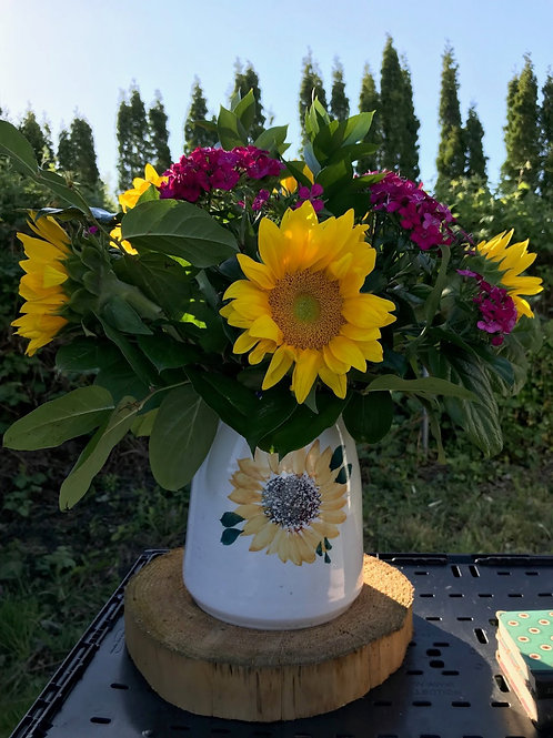 Sunflower Vase with Flowers