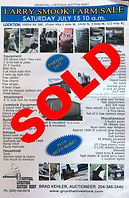 Auction Poster for  previously sold sale at Grunthal Aucton Service