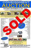 Auction Poster for a previously sold sale at Grunthal Auction Service