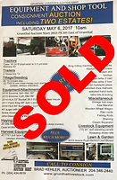 Auction poster for a previously sold sale by Grunthal Auction Service