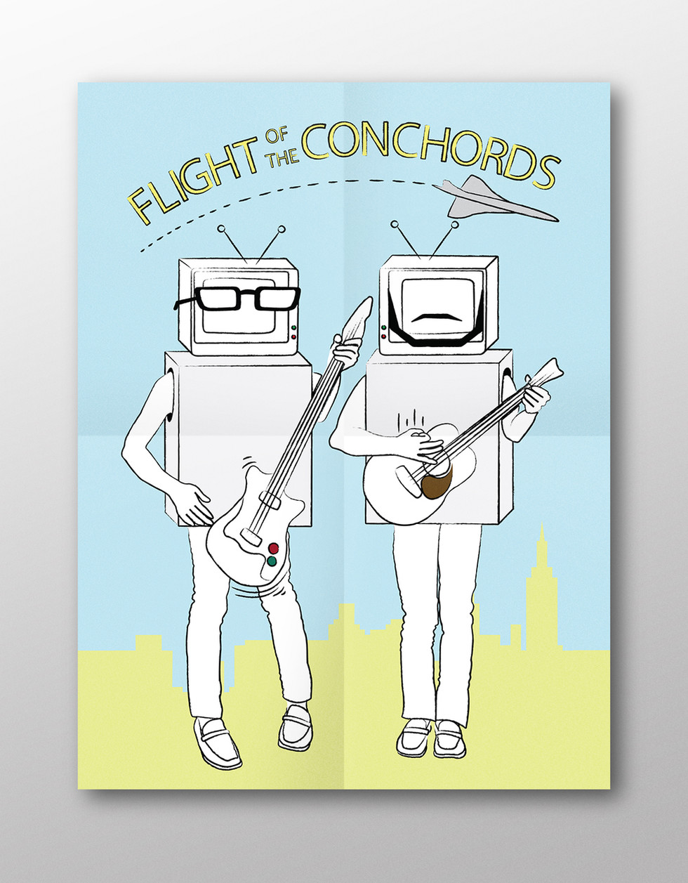 Flight of the Conchords-inspired illustration