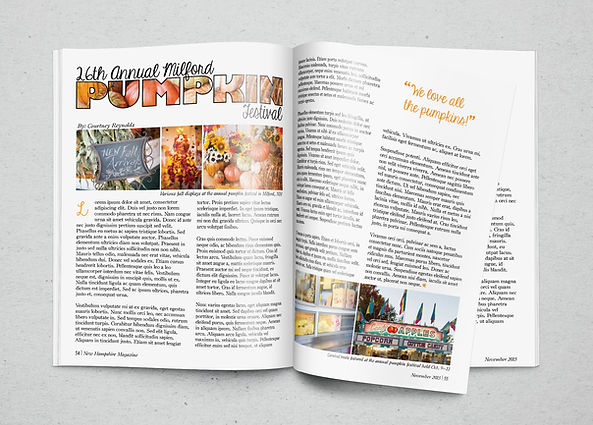 Assignment: Magazine Spread | Course: Typography