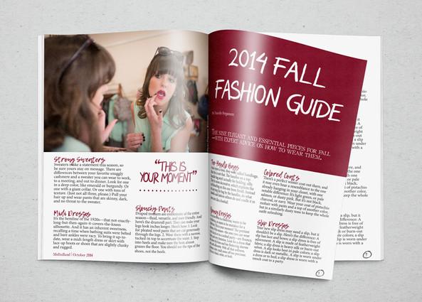 Assignment: Magazine Spread | Course: Desktop Publishing