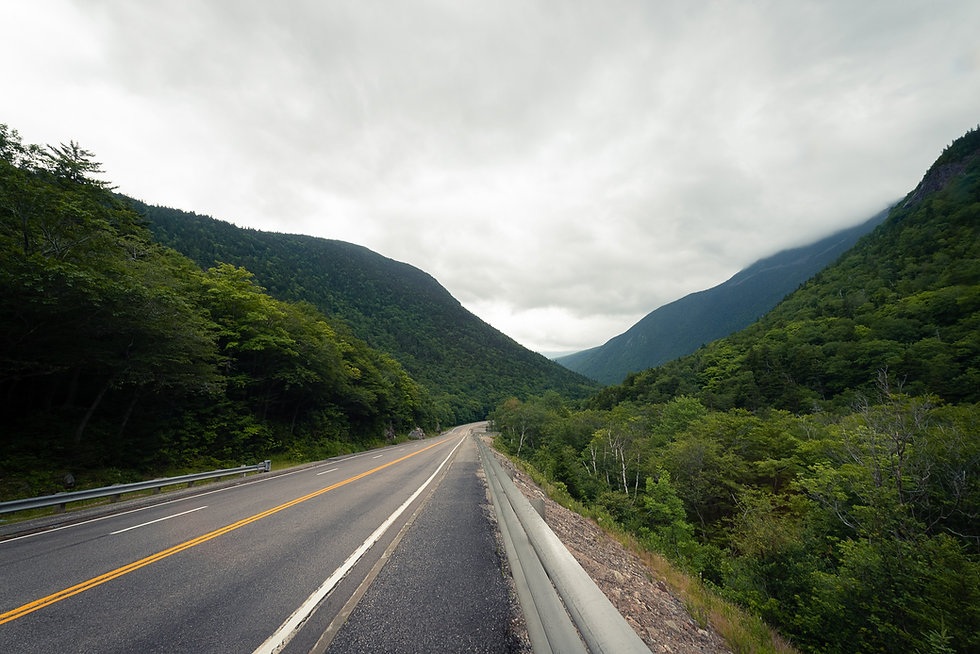 foggy mountain valley