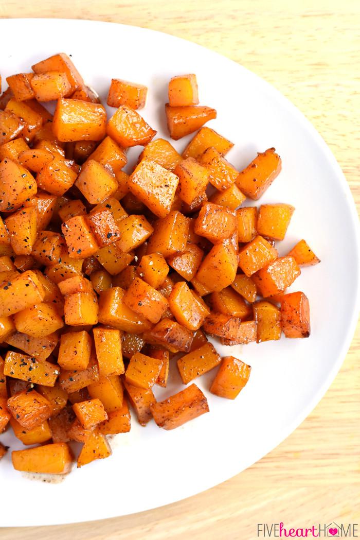 Cinnamon Maple Roasted Squash