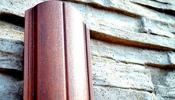 Металлический штакетник с принтом под дерево