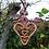 Thumbnail: Coeur de naissance à suspendre. Oiseaux ; triskells Celtes et coeurs .s