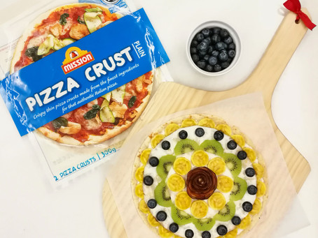 Food Cuddles' Rainbow Pizza in 15 minutes