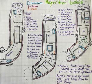 Meyers-Vesnii Floor Plan; Levels 1-3