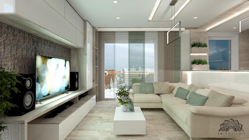Penthouse lakás - Nappali - Székesfehérvár