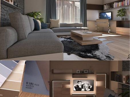 Székesfehérvári nappali design- és funkcionális újragondolása