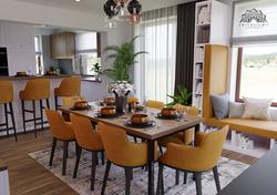 Otthonosan berendezett, modern nappali - étkező - konyha - Székesfehérvár