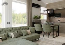 Elegáns, modern nappali - étkező - konyha - Velence
